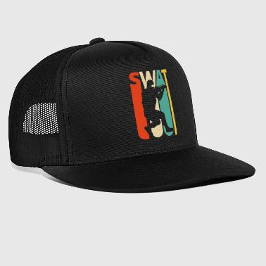Weinlese-Retro Swat Team.CO19. Polizei. Swat Offizier - Trucker Cap