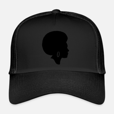 Afro Woman afro silhouette - Trucker Cap