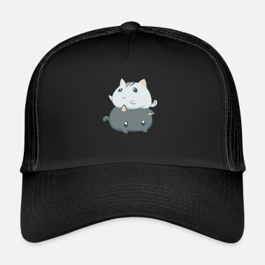 Kawaii Gatos Kawaii - Gorra de camionero