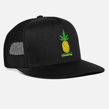 Amsterdam Pineapple T-Shirt Cannabis Weed Ganja high gift - Trucker Cap