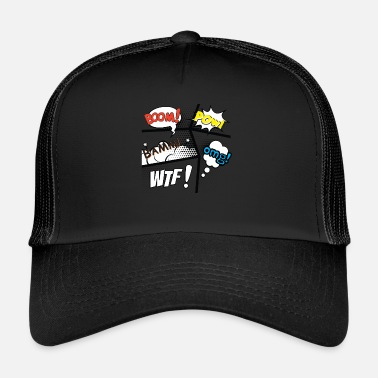 Figure Of Speech Comic speech bubbles - Trucker Cap