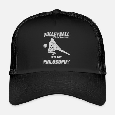 Draguer Sport de drague de volleyball avec philosophie - Trucker Cap