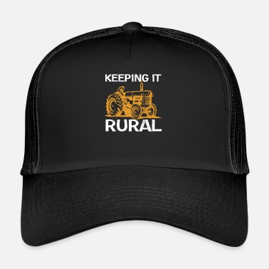 Rural Farmer Design - Keeping it Rural - Trucker Cap