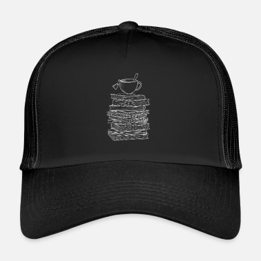 Journalist Reading and Tea Book Literature Bookworm Read Gift - Trucker Cap