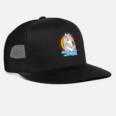 Awesome Fantastische Kreaturen des Einhorns Magic Fantasy Rainbow - Trucker Cap