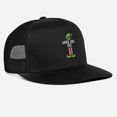 Elf Cool Dad Elf Matching Family Group Christmas Party - Trucker Cap