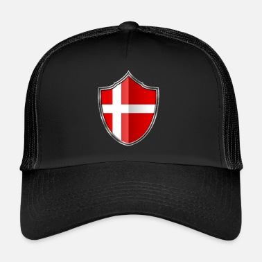Denmark Denmark flag coat of arms silver 015 - Trucker Cap
