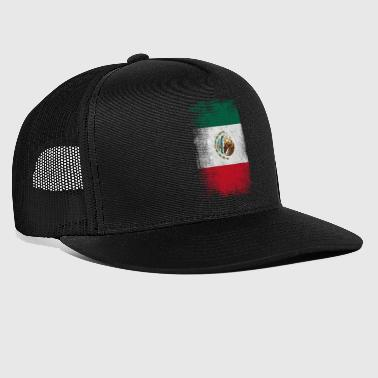 Mexique Drapeau fier du Mexique Vintage Distressed - Trucker Cap