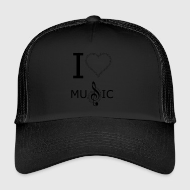 I Love Music I Love Music design - Trucker Cap