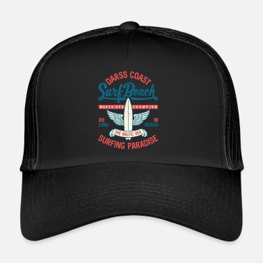 Long Beach MAR BÁLTICO - Cool Darss Surfer Gifts Surf Shirts - Gorra de camionero