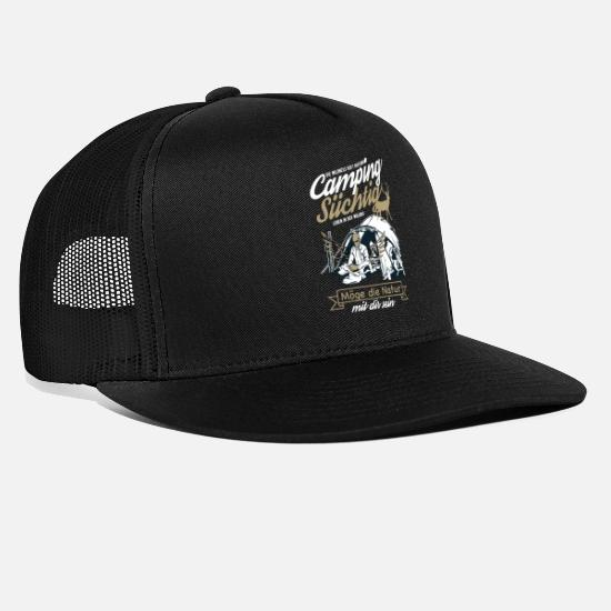 Camper Caps & Hats - The wilderness is calling - Trucker Cap black/black