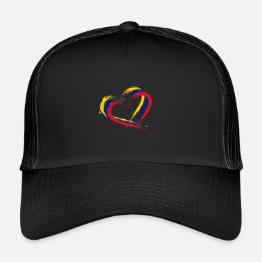 Heart Heart brush flag of Venezuela flag colors vector - Trucker Cap