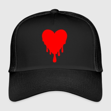 dripping heart - Trucker Cap