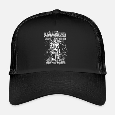 Walhalla In your darkest hour call on me (hell) - Trucker Cap