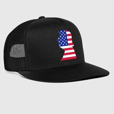 Trump US USA Flag - Trucker Cap