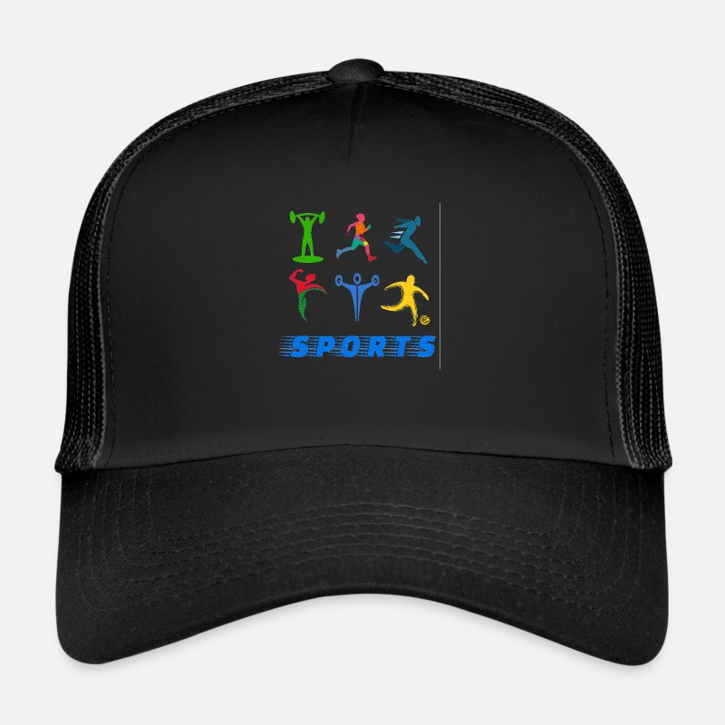 Sports Caps & Hats - Sports - Trucker Cap black/black