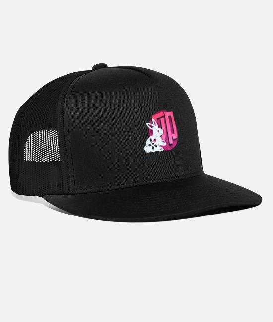 Sign Of Zodiac Caps & Hats - Japanese zodiac sign rabbit - Trucker Cap black/black