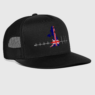 Heartbeat UK - I love UK - Trucker Cap