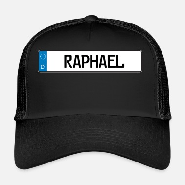 Name Tag Raphael name tag gift - Trucker Cap