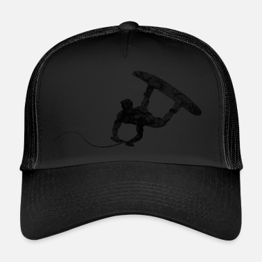 Wakeboard Prezent wakeboarder black waves - Trucker Cap