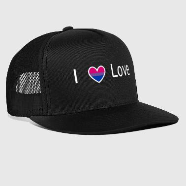 I love bi bi white - Trucker Cap