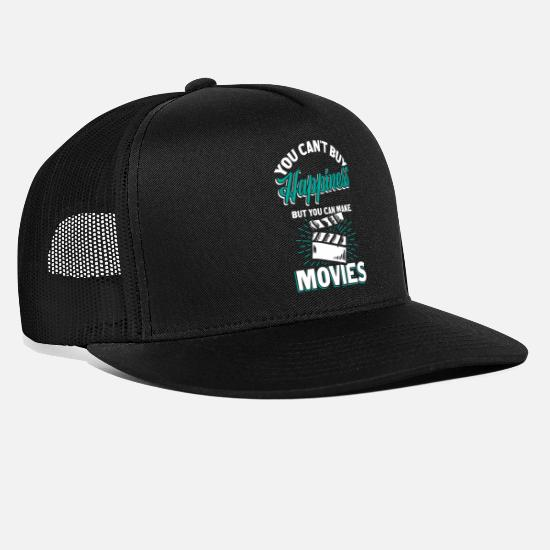 Record Caps & Hats - Filmmaker clapperboard - Trucker Cap black/black