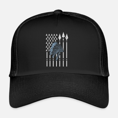 Nativi Americani Native American flag nativi americani - Trucker Cap