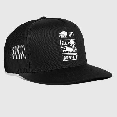 Eat Sleep Fly Powtórz - Aircraft Pilot Airman Flight - Trucker Cap