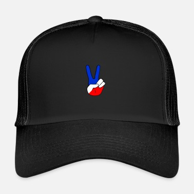 Cock Peace & Love cap [Fingers raised] - Trucker Cap
