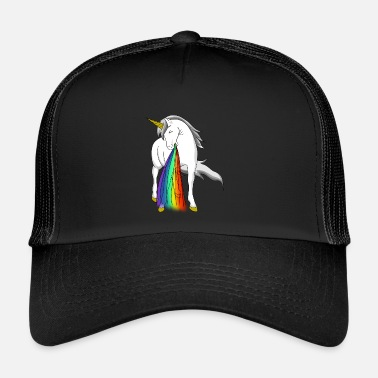 Puke Puking unicorn - Trucker Cap