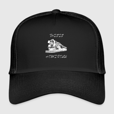 Railway steam engine steam locomotive Lokomotove model - Trucker Cap
