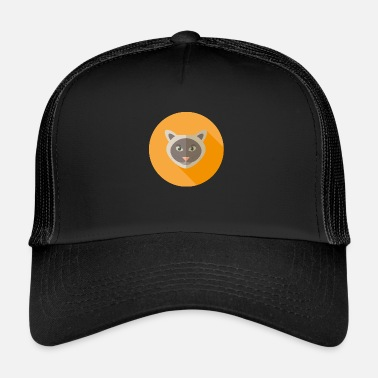 Vecteur Chat de vecteur - Trucker Cap