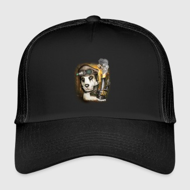 Cyberpunk Steampunk Dog # 3 - Trucker Cap