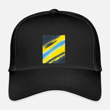 Torn Yellowblue torn in two - Trucker Cap