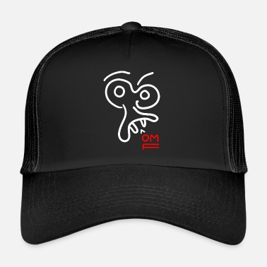 Figure Of Speech OMF / stick figure - face - Trucker Cap