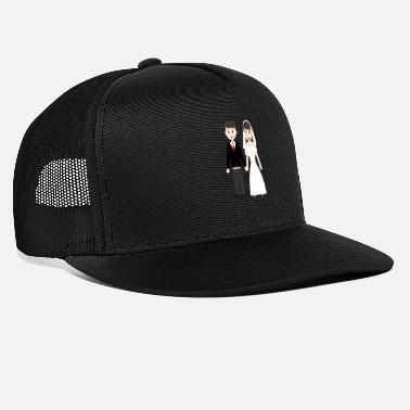 Wedding Couple Wedding marriage couple - Trucker Cap