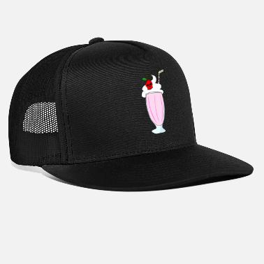 Shake cherry and strawberry milkshake tete de mort - Trucker Cap