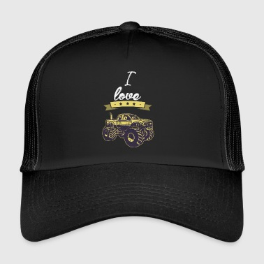 I love monster truck gift I love - Trucker Cap