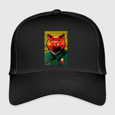 64 Cat Cat MAO MIAO Zedong juliste Margarita Art - Trucker Cap