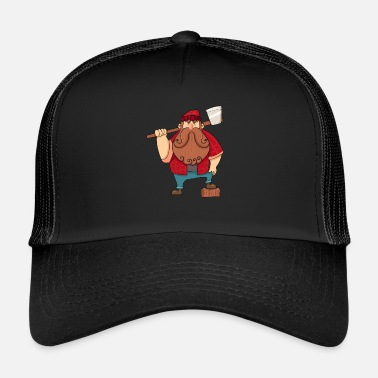 Caricature Caricature de bûcheron - Trucker Cap