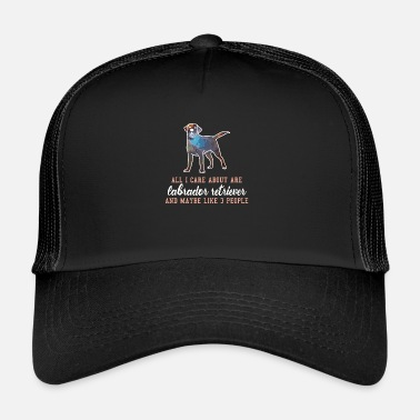 Rainbow Labrador retriever rainbow dog gift - Trucker Cap
