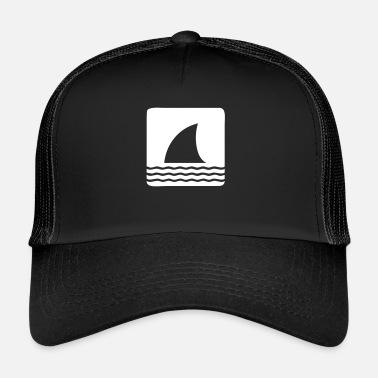 0c92c12bbc570 Shark Fin Shark shark fin shark fin waves sea - Trucker Cap