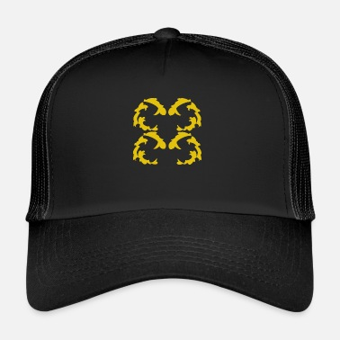 Baroque Pattern with baroque ornaments gold - Trucker Cap