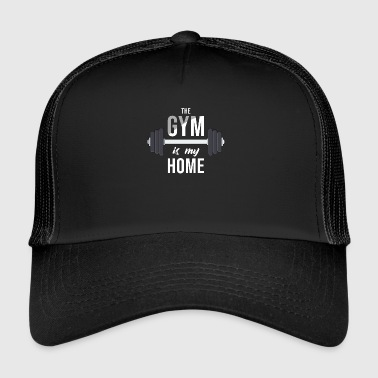 Bench Gym Dumbbell Cartoon Gym Bodybuilding Image - Trucker Cap
