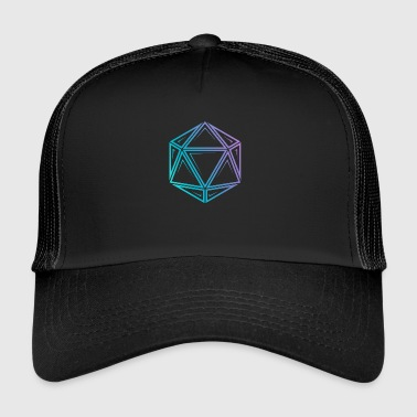 Dungeons And Dragons Tribal d20 fade - dnd dungeons and dragons - Trucker Cap