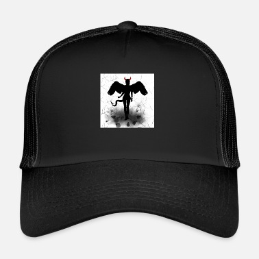 Angel and Devil - angel wings and devil horns - Trucker Cap