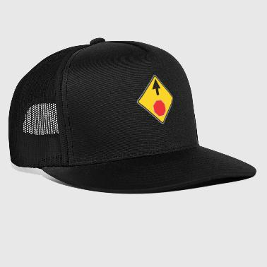 Road Sign Up et signe rouge - Trucker Cap