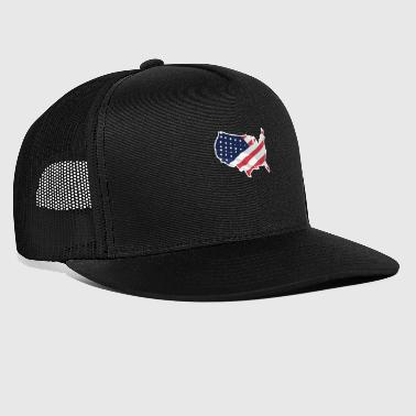 USA American Flag Independence Day - Trucker Cap