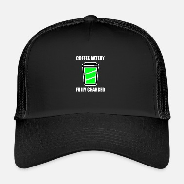 Spoof FULLY CAHRGED NEED COFFEE - COFFEE BEANS - CAFFEINE - Trucker Cap
