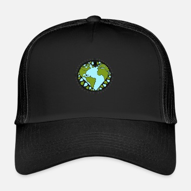Point Cardinal Aime la terre - Trucker Cap